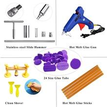 цена на PDR Tools Kit 40pcs Auto Body Paintless Dent Repair Removal Tools Kit Bridge Dent Puller + Glue Gun + Glue Sticks Hand Tool Set