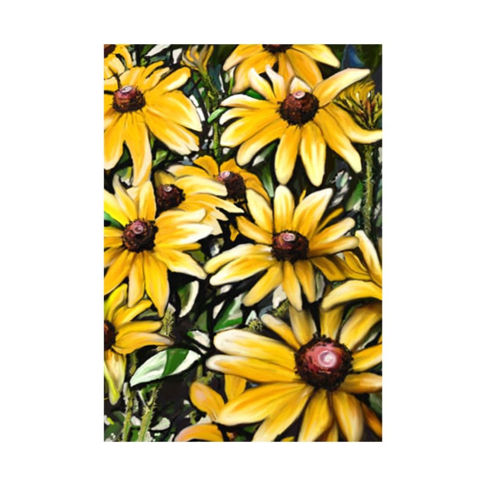 Daisy garden flag decorative outdoor and indoor flags 100 polyester daisy garden flag decorative outdoor and indoor flags 100 polyester beautiful flowers designs pringing home yard banner in flags banners accessories izmirmasajfo