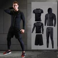 2017 Running Set Men S Sport Suit Compression Basketball Running Underwear Clothes Men Quick Dry Gym
