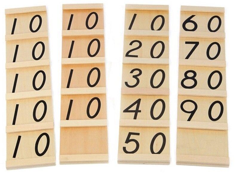 Nouveau jouet en bois pour bébé Montessori adolescents et dizaines planches jouets en bois éducation de la petite enfance formation préscolaire bébé jouet bébé cadeau - 3