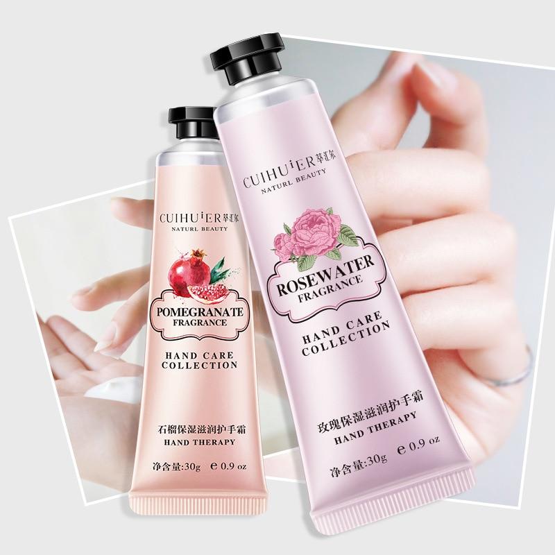 30g Winter Hand Cream Hand Lotions Nourishing Anti-Aging Hand Feet Care Cream Whitening Moisturizing Fragrance Drop Shipping
