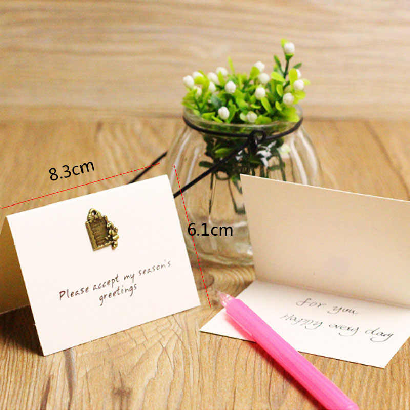 1pc Creative love word greeting card Wedding thanks birthday card paper Wedding Party supplies Sweet Greeting
