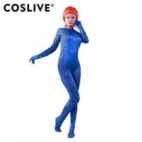 219e32a7c X Men Mystique Jumpsuit Dress Lady Sexy Fancy Costume COSplay Superhero  Women Props. Coslive X Men Mística Macacão Vestido Da Senhora Sexy Fantasia  Traje ...