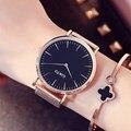 Gimto mujeres relojes 2017 marca de moda de lujo señoras reloj de cuarzo amante vestido reloj de oro rosa casual reloj de la muchacha relogio feminino