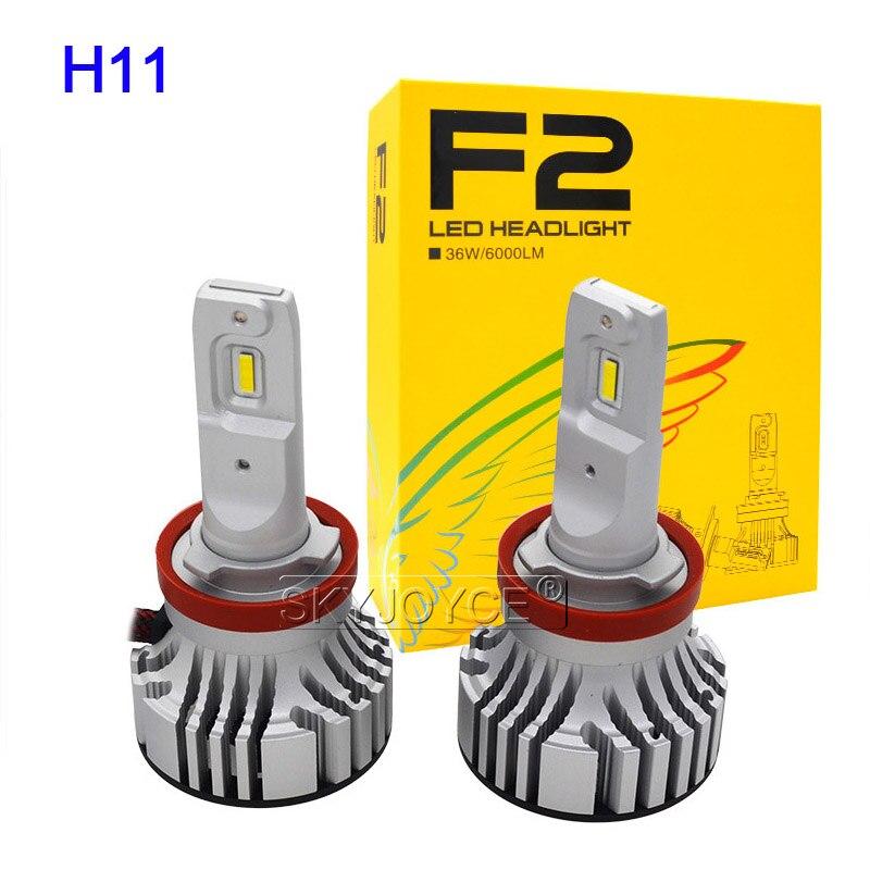SKYJOYCE New H4 F2 LED Car Headlight Bulb Kit H7 H1 HB3 9005 HB4 9006 72W 12000LM CSP Chips 6500K White H11 LED Fog Lamp Bulbs (10)