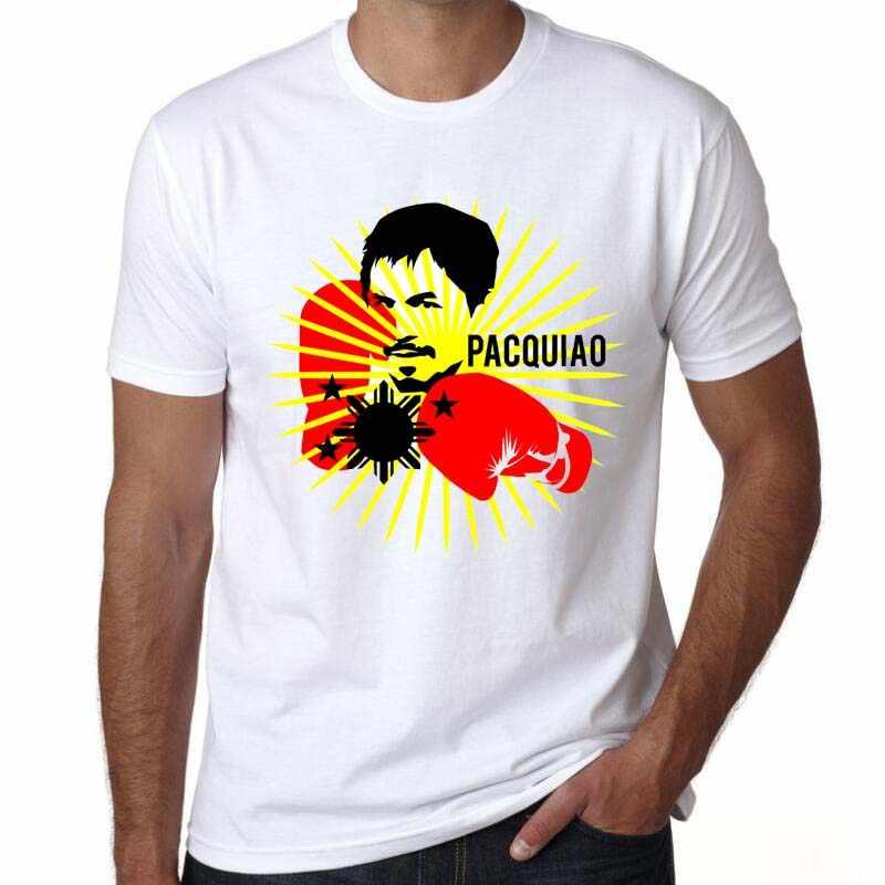 Мужские модные тенденции печати Жесткий чехол для телефона с изображением основного игрока Мэнни Пакьяо MP боксерская футболка с О-образным вырезом с коротким рукавом модные ММА Филиппины футболка Swag