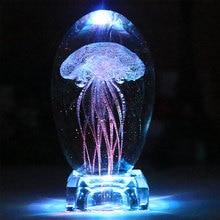 Кристалл Медузы светодиодный светильник ночник изменение цвета Медузы настольная лампа детская прикроватная лампа Lampara для детей подарки украшение дома