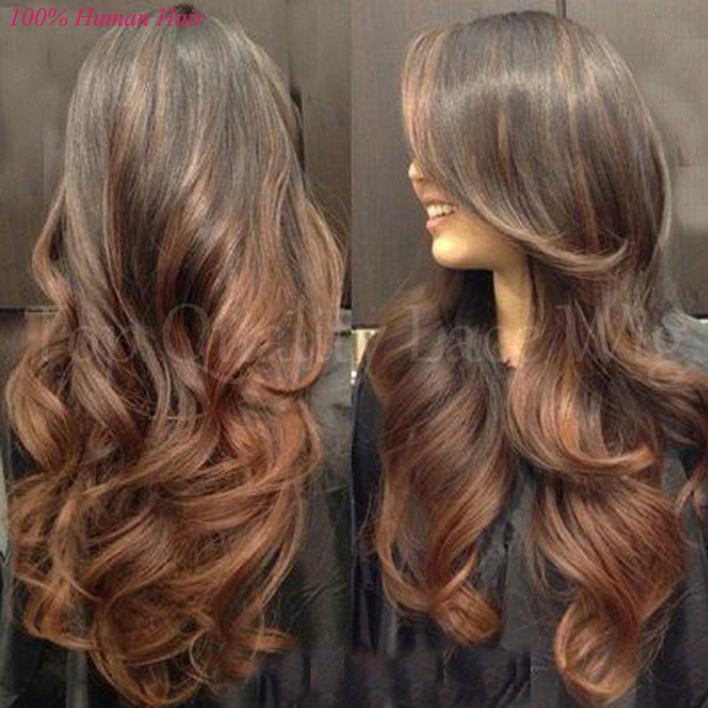 Brown hair with two tone highlights image collections hair two tone highlights for dark brown hair images hair extension free shipping 8a ombre full lace pmusecretfo Image collections