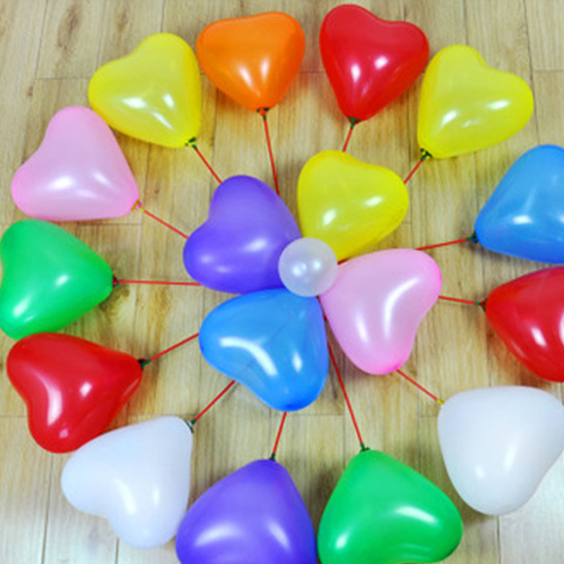 supplies Birthday Wedding Heart Shaped Room Decoration Style Balloon