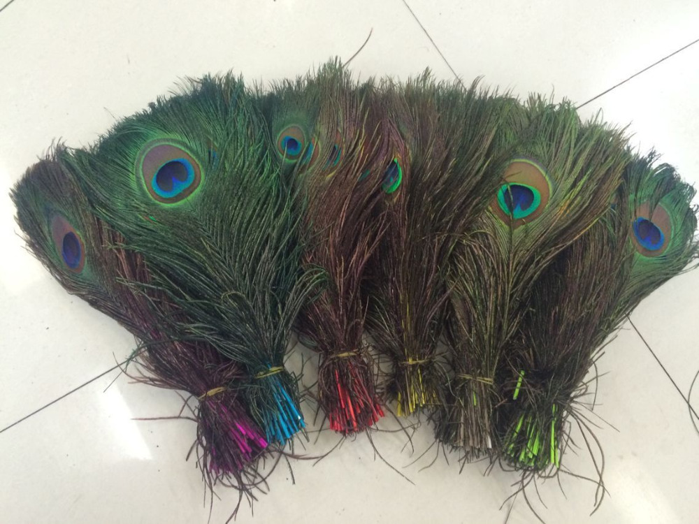2016 10PCS Natural Peacock Feather 25 30cm Clothing