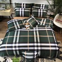 Роскошный Египетский хлопковый Модный классический Комплект постельного белья, шелковистый пододеяльник, простыня, наволочки, размер queen King, 4 шт