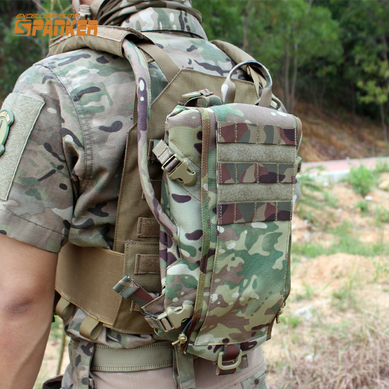 Tactical Outdoor Molle Hydration Carrier Armor Water Bag Backpack Hunting Paintball Quick-opening Equipment emersongear lbt2649b hydration carrier for 1961ar molle backpack military tactical bags hunting bag multicam tropic arid black