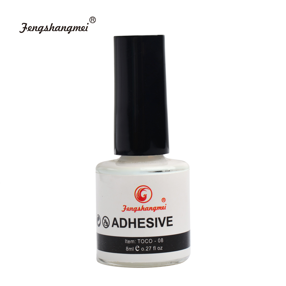 fengshangmei Nail Art Glue for Foil Adhesive Professional Acrylic Glue Transfer False Tips Gel Nail Glue 1 pcs 10g byb false glue nail art tips glitter acrylic decoration with brush false nail gel glue fake nails nail pink label
