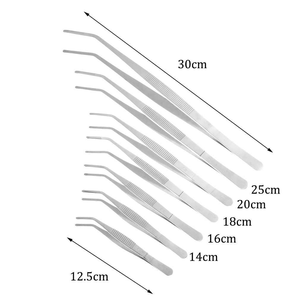 1 قطعة تصفيح الشيف الغذاء ملقط ملقط ملقط الشواء تخدم عرض الفولاذ المقاوم للصدأ المطبخ أداة