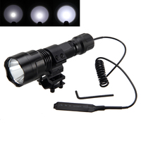 Tactical Flashlights Torch 3800lm XML T6 LED Camping Hunting Flashlight Light + Mount +Pressure Switch+Battery+Charger