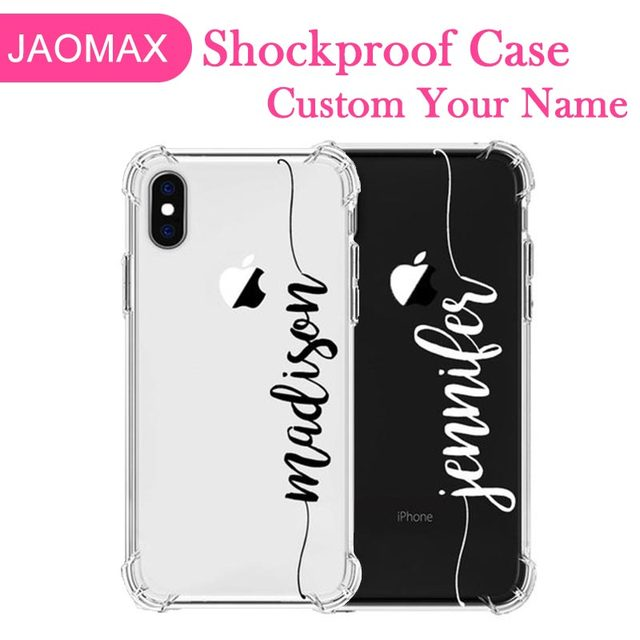 hot sale online 9fe10 a99cb US $8.24  Jaomax Shockproof Armor Clear Customized Phone Case For iPhone 8  Plus Xs Max 6 6SPlus 7 X Xr Protection Back Covers Capa Fundas-in ...