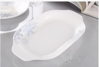Fashion tableware snowflake pattern 12 inch fish dish