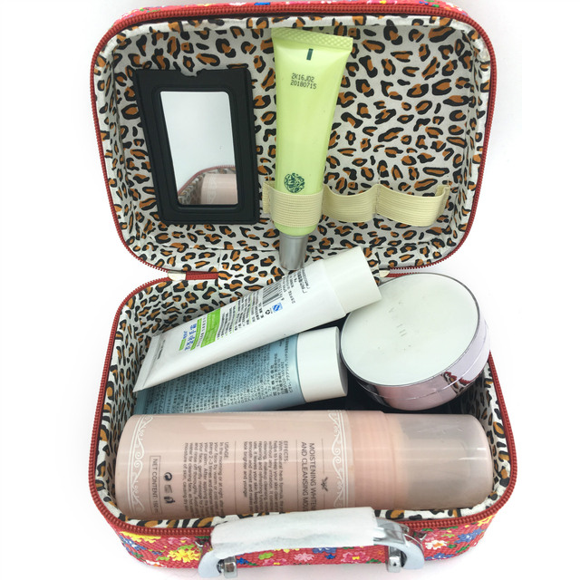 Korean version of fashionable cosmetic bag printing hand-painted stone pattern cosmetics case