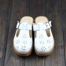 Весенние тапочки careaymade из натуральной кожи белые туфли