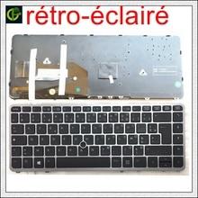 Francese Azerty tastiera Retroilluminata Originale per HP EliteBook 840 G1 840 G2 850 G1 850 G2 855 G2 ZBook 14 FR silver frame