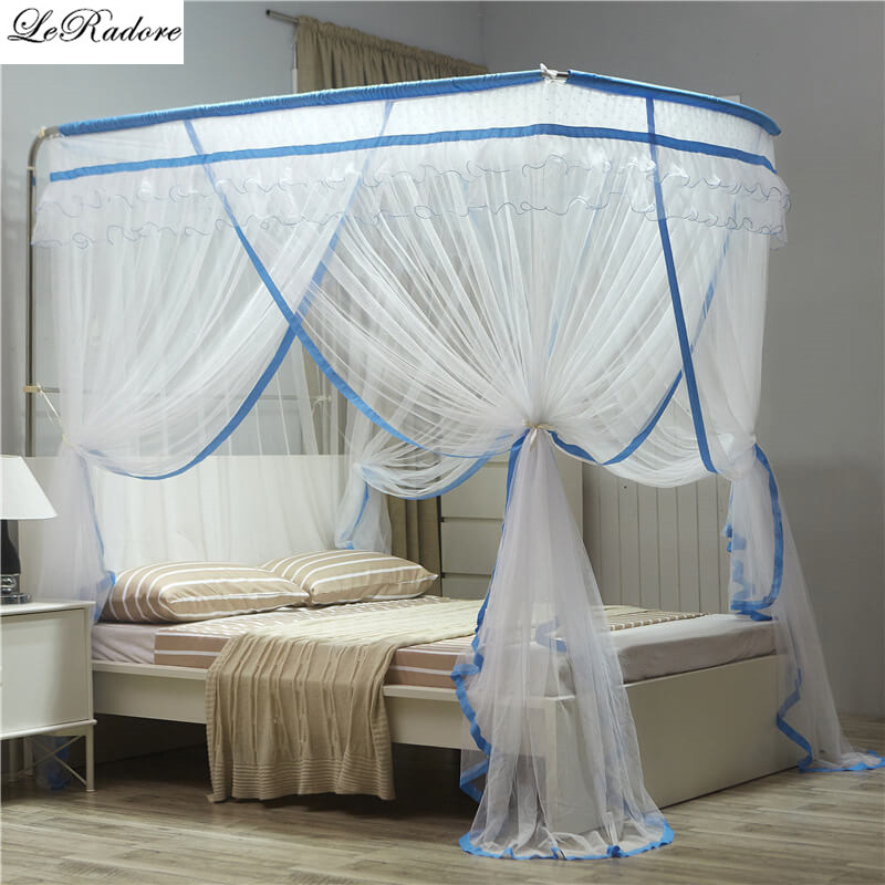 New Foldable Mosquito Net 3 Openings Fishing Bed Bug Net Free Shipping Sale Folding Tent Mosquito Nets for Double Bed Mosquitera