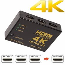 1080P 4K * 2K HDMI וידאו מתג Switcher HDMI ספליטר 3 קלט 1 פלט יציאת רכזת עבור DVD HDTV Xbox PS3 PS4(China)