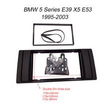 Double 2 Din Frame Panel Radio Fascia for BMW X5 E53 5 E39 1995 2003 Stereo