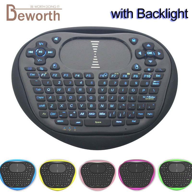 Backlight Wireless Mini Keyboard 2.4G T8 Air Mouse with Touchpad Universal Remote Control for Android TV Box Xbox Gamepad IPTV