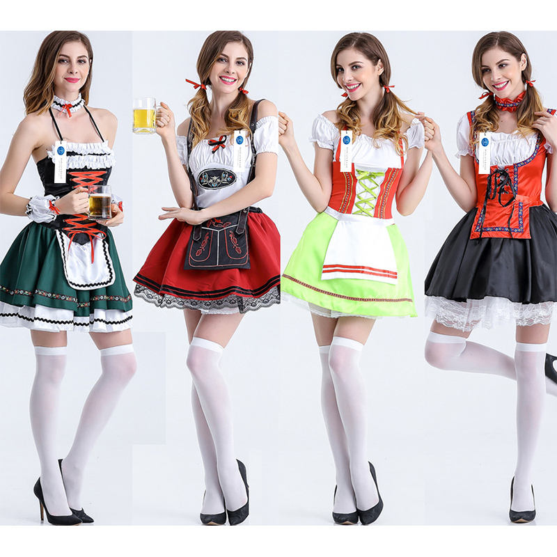 ManLuYunXiao Cosplay Maid Costume Roleplay Halloween Waiter Oktoberfest Party Game Uniforms Christmas Women Free Shipping
