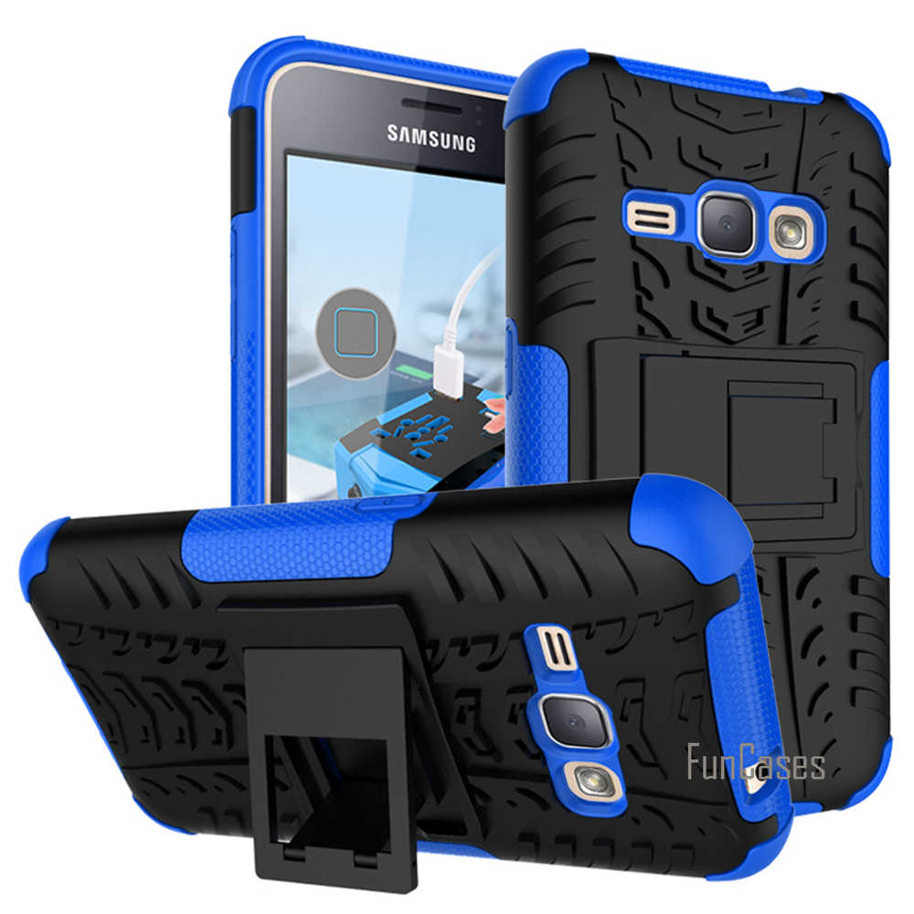 For Samsung Galaxy J1 2016 J120 J120F Case Hybrid Kickstand Dazzle Rugged Rubber Armor PC+TPU Stand Function Shockproof Case