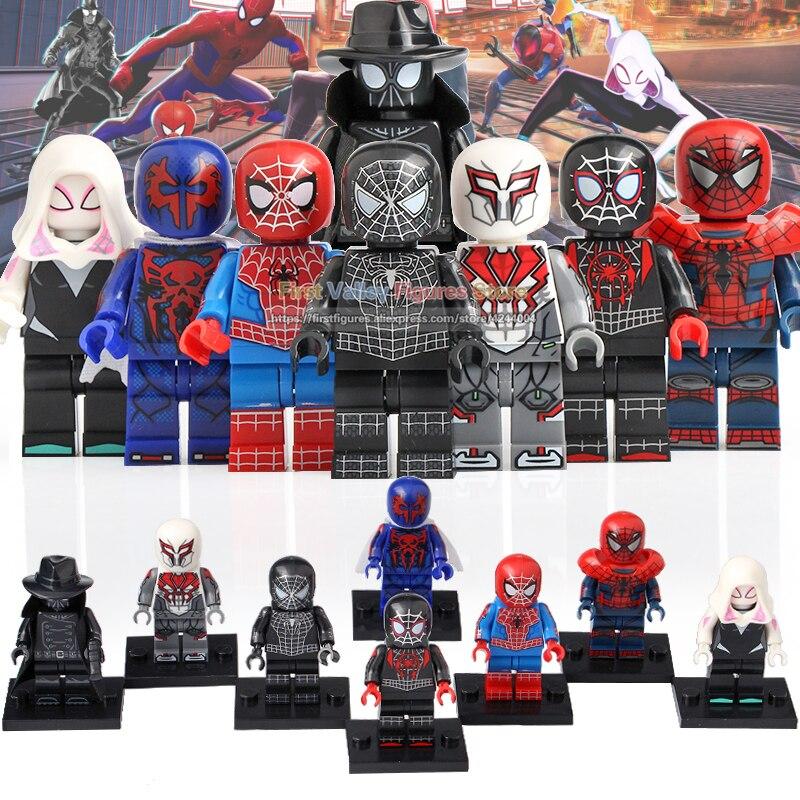Toys & Hobbies Blocks Original 80pcs Legoingly Marvel Action Figure Super Heroes Ultimate Spider-man Noir Gwen Spiderman Building Blocks Children Toys Kt1016 Elegant And Graceful