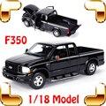 F350 1/18 Maior Metal SUV Caminhão Do Carro do Presente Do Ano novo Brinquedo Coleção Modelo Liga de Simulação de Detalhes Do Veículo Fãs Presente Decoração