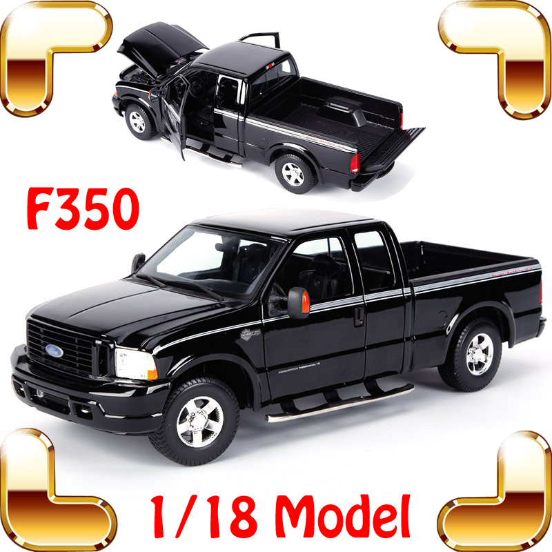 New Year Gift F350 1/18 Larger Metal SUV Truck Car Collection Model Simulation Details Alloy Toy Vehicle Fans Present Decoration new year gift jeep wrangler sahara 1 18 model metal jeep vehicle scale simulation toys alloy car collection large suv die cast