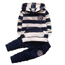 BOTEZAI spring autumn new fashion baby boys girls hoodies sport suit Children clothing set toddler casual kids tracksuit set цена в Москве и Питере