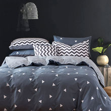 ФОТО cotton bedding sets queen size 4pcs reactvie printing duvet cover bed sheets