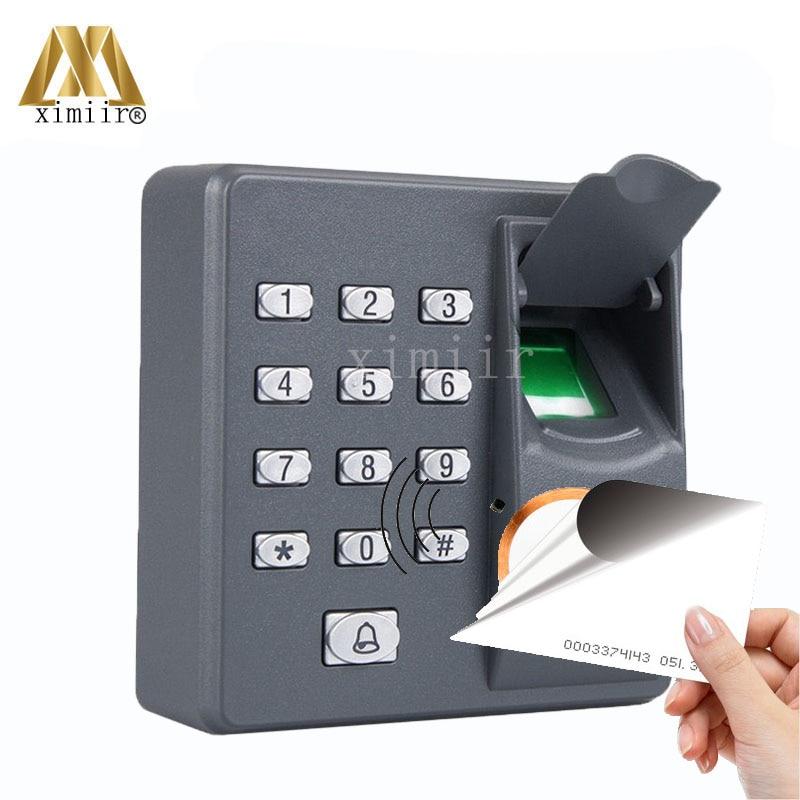 Hot Sale!!Fingerprint Reader With 125KHZ RFID Card Reader ZK Fingerprint Standalone Access Control X6 Door Access Control System standalone biometric fingerprint door access control system with keypad metal fingerprint access controller