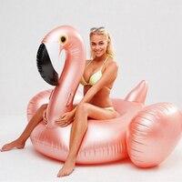 YUYU Ouro Rosa Flamingo Inflável Natação Flutuador Tubo de Jangada Gigante Adulto Divertido Brinquedos Piscina de Água piscina de Natação Float Anel Verão