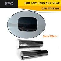 200x50cm Car Sticker PVC High Glossy Black 5D Carbon Style Vinyl Wrap Film DIY Car Decorative