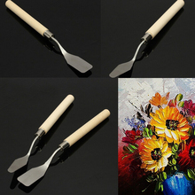 2pcs Stainless Steel Oil Painting Paint Art Craft Metal Spatula Set Perfect Artist Painting Calligraphy Palette Knife Spatula