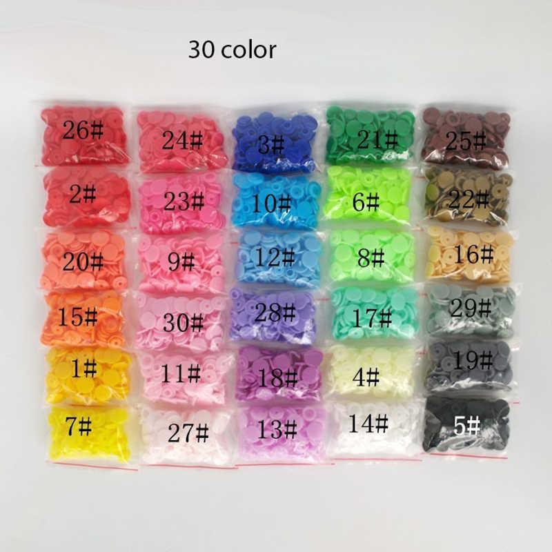 20 zestawów KAM T5 żywiczne zatrzaski dla dzieci 30 kolorów plastikowe zatrzaski akcesoria odzieżowe zatrzask łączniki 1.2CM dekoracja ubrań dla dzieci
