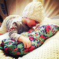 Primavera Otoño bebé Recién Nacido manta de Algodón suave/floral de Fibra de niños Que Reciben Mantas swaddle lecho saco de dormir con el sombrero