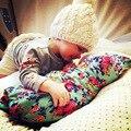 Primavera Outono cobertor do bebê Recém-nascido de Algodão macio/Fiber floral crianças Recebendo Cobertores da cama swaddle saco de dormir com o chapéu