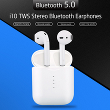 TENACHI i10 TWS Mini Wireless Bluetooth Earphone Stereo Earbud with Wireless Charging Battery Box