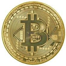 1 x редкая позолоченная монета 1 унция биткоина, коллекционный подарок, арт-коллекция монет BTC Non валютная монета
