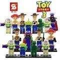 SY172 Squeezy Toy Story Woody Buzz Lightyear años Emperador Zurg Aliens Building Blocks Ladrillos Compatible Con Legoes Regalo de Navidad