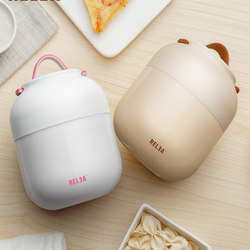 Cute Mini Portable Food Thermos 500ml 700ml Stainless Steel Soup Pot Stew Kettle Bento Box Food Container Lunch Box For Kids