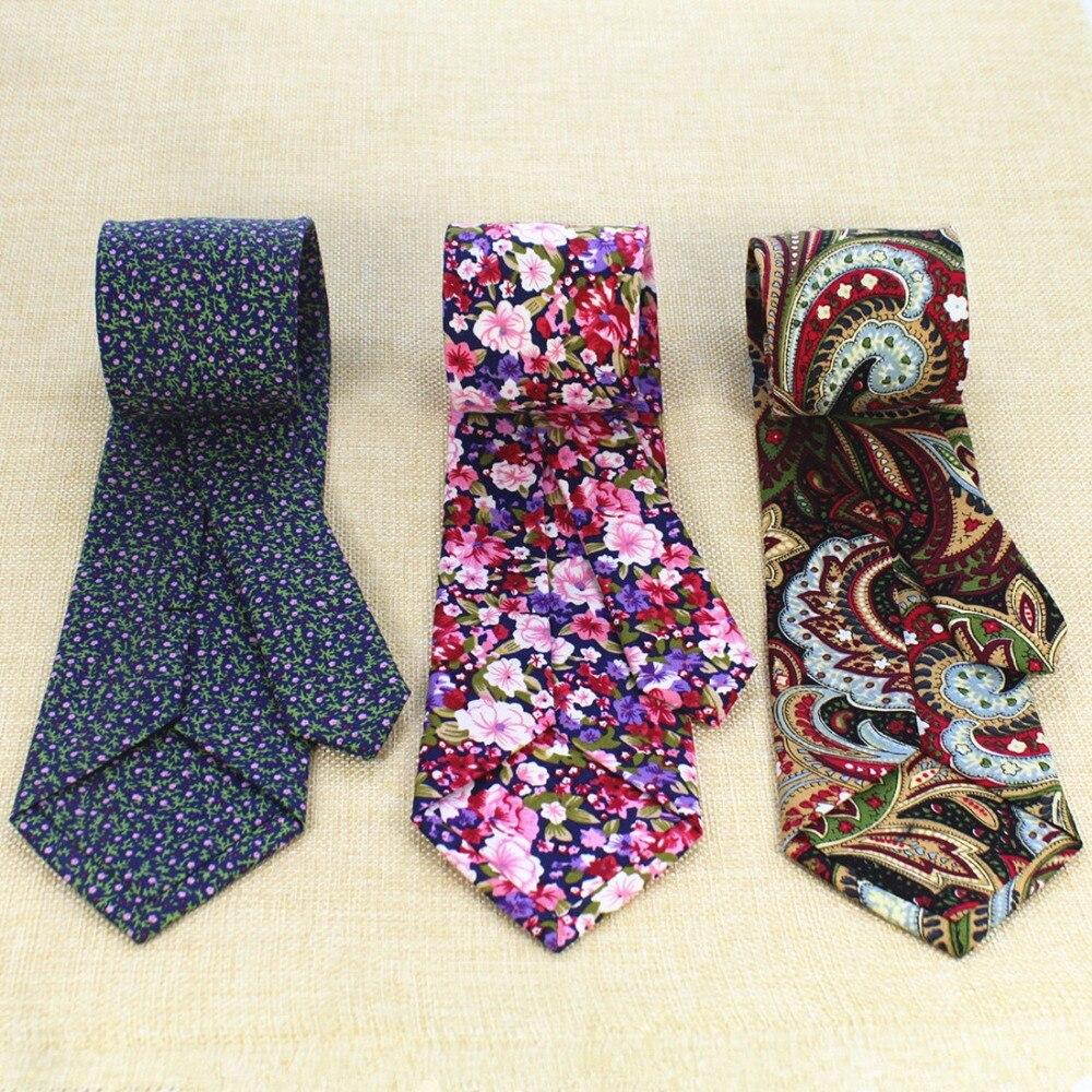 Ricnais Fashion Mens Cotton Tie 8cm Necktie For Men Causal Paisley Ties For Man Bussines Corbatas Wedding Party Neckties