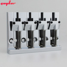 4 String Chrome Badass Stijl Bass Bridge Gefreesd Bass Bridge Zuiver koper materiaal Gemaakt In Korea CNC