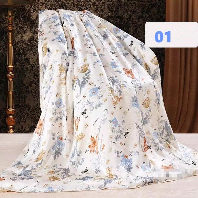 100% Moerbei Zijde Dekbedovertrek 16 mm Koning Koningin Full Size Naad Gedrukt + 19 mm Naadloze Effen Kleur AB type 1 Stuk aanpassen MS02-in Dekbed overtrek van Huis & Tuin op  Groep 1