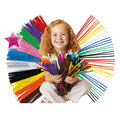 100pcs/Set  Stems Colorful Sticks Kids Toy Kindergarten DIY Handcraft Material Creative Kids Educational Toys Wholesale WYQ
